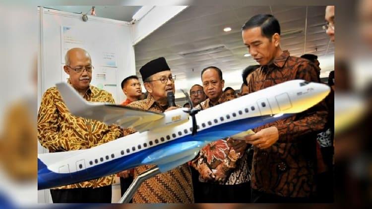 Biografi BJ Habibie: BJ Habibie dan Pesawat Terbang N250 Gatot Kaca