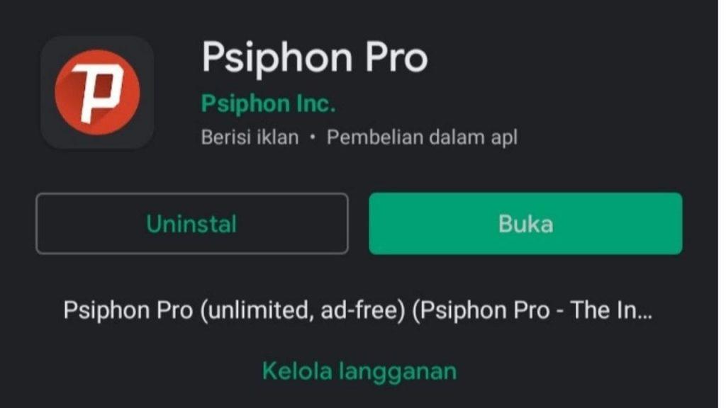 cara setting Psiphon Pro
